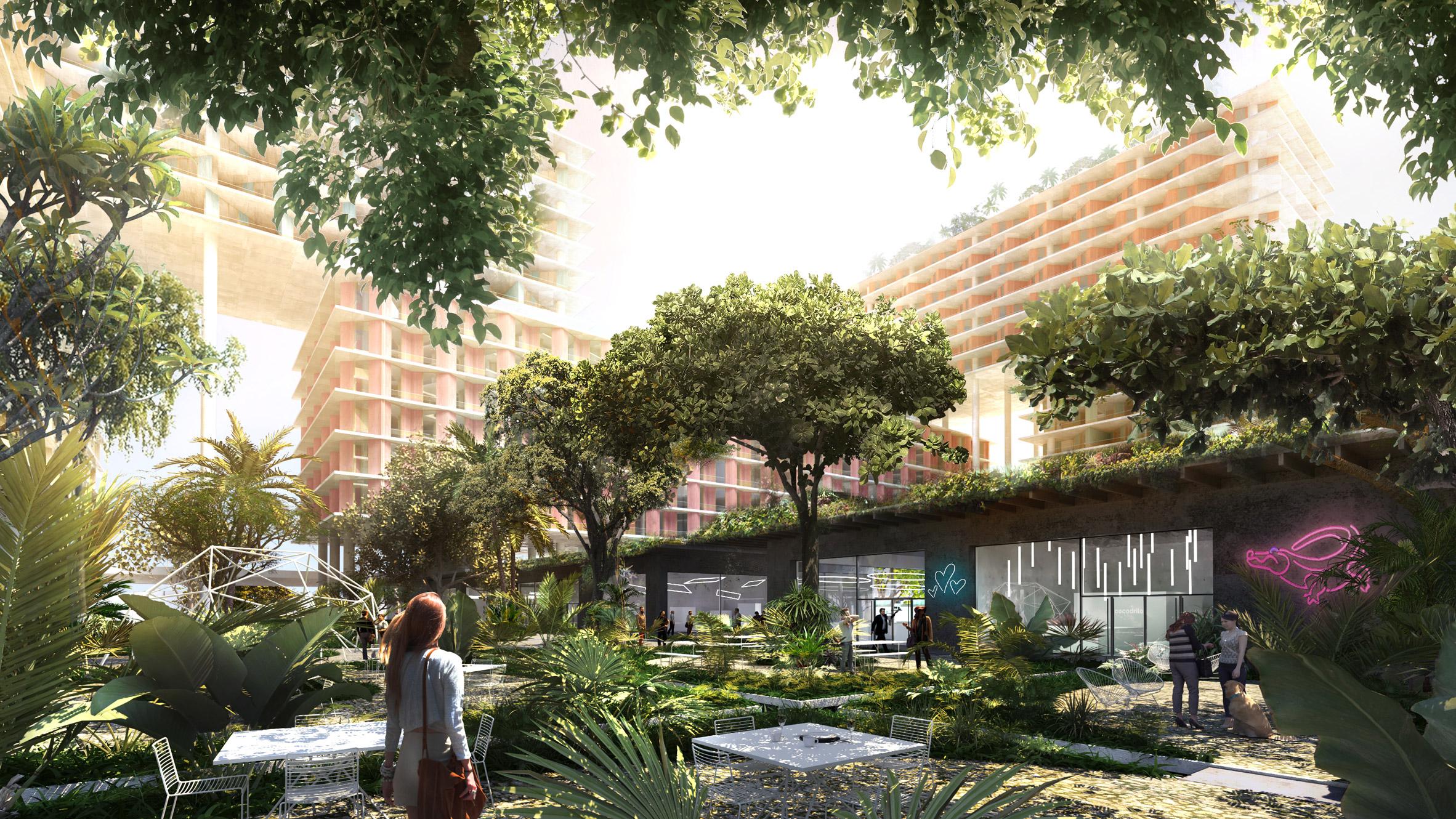 L'agriculture urbaine s'invite dans le nouveau projet de BIG à Miami !