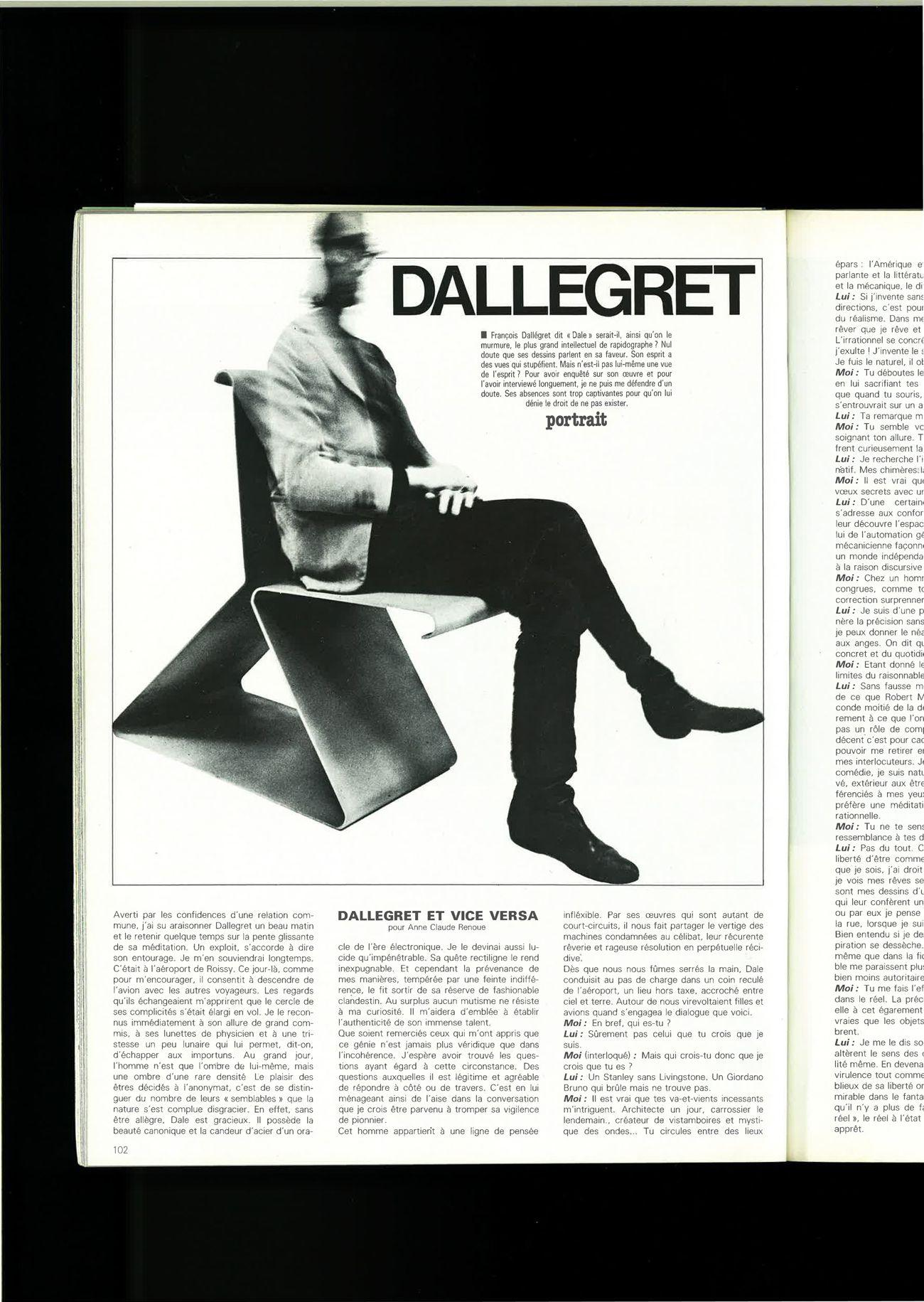 Dallegret, 32 ans auparavant