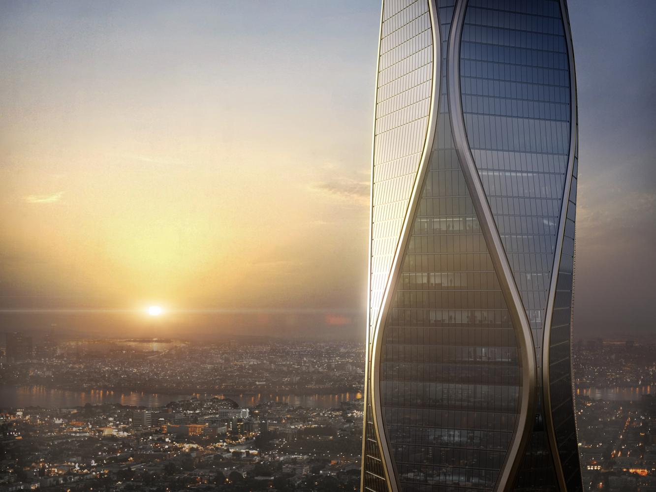 SOM révèle les images de sa future tour multi-usage d'Hangzhou en Chine