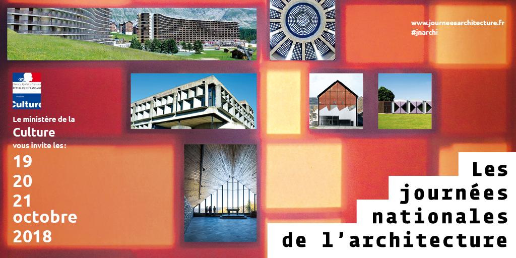 RDV le 19, 20 et 21 octobre pour les Journées Nationales de l'Architecture 2018