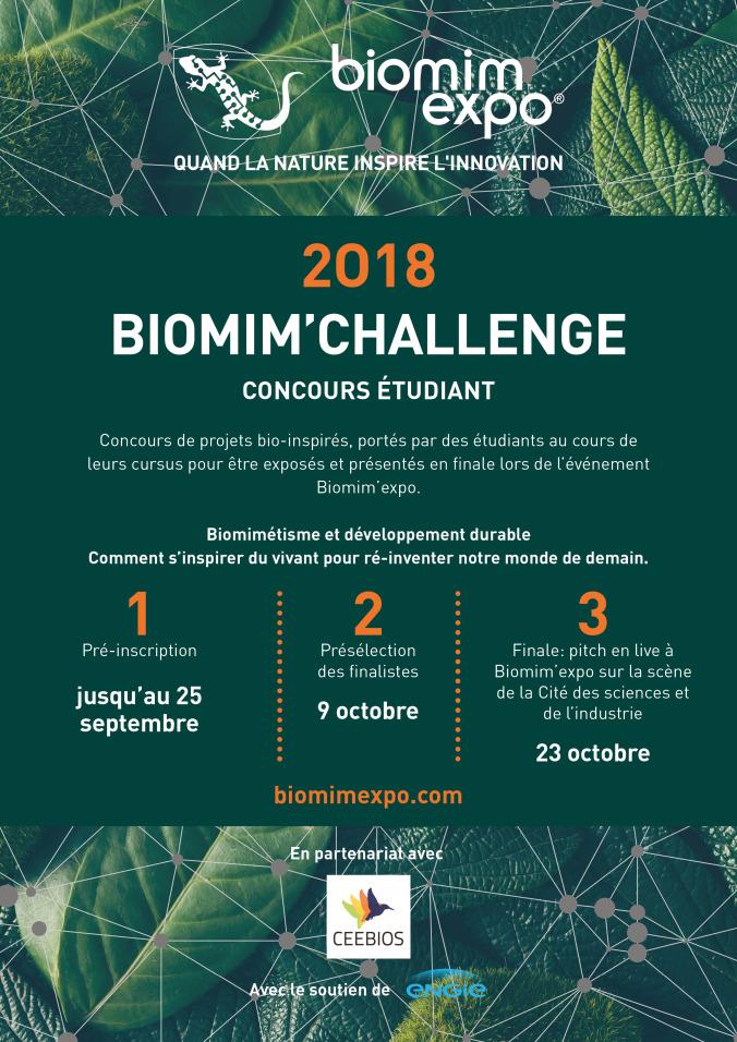 Concours etudiant : Biomim'Challenge 2018
