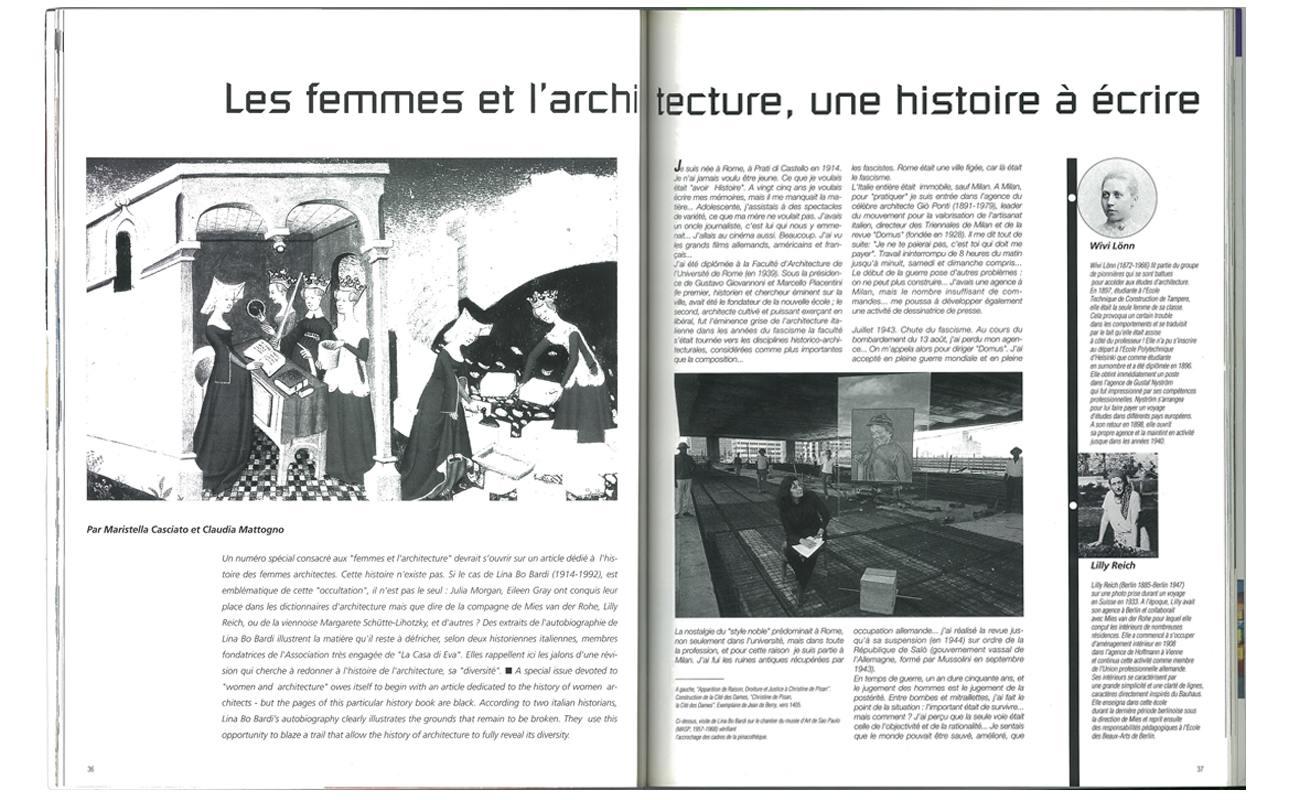 Rétro : Ouvrages de dames, les femmes architectes à l'honneur