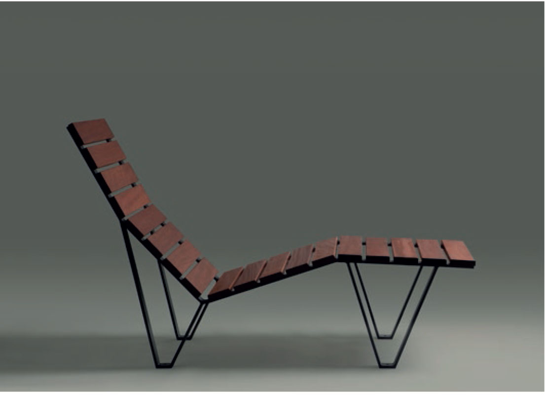 Mobilier urbain : la chaise longue Harpo conçue par Milá, père et fils