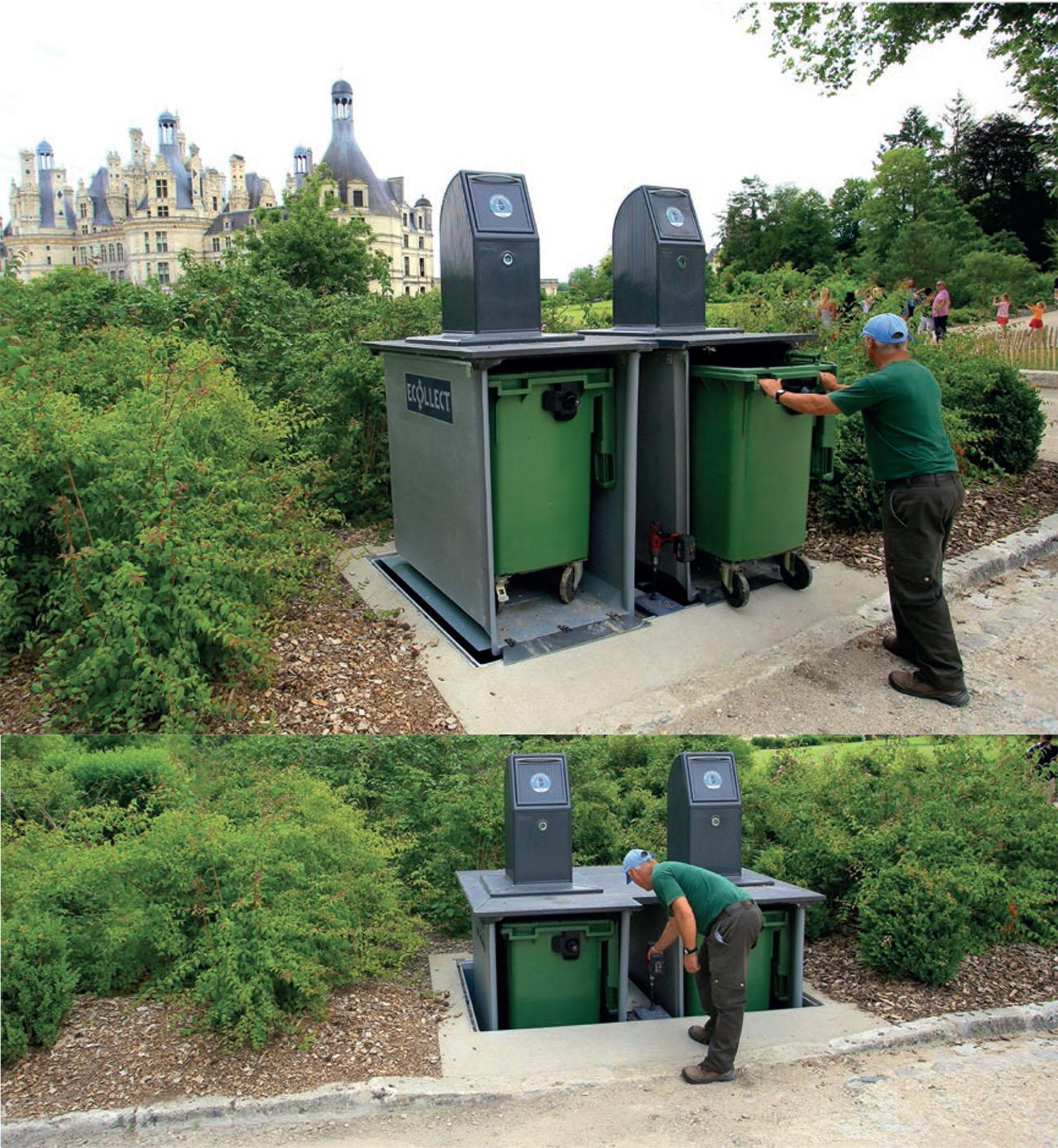 Mobilier urbain : les poubelles Ecobac 1500 et Ecobac 360