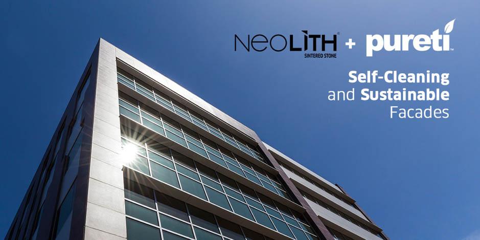 Neolith + Pureti: façades autonettoyantes et purificatrices d'air