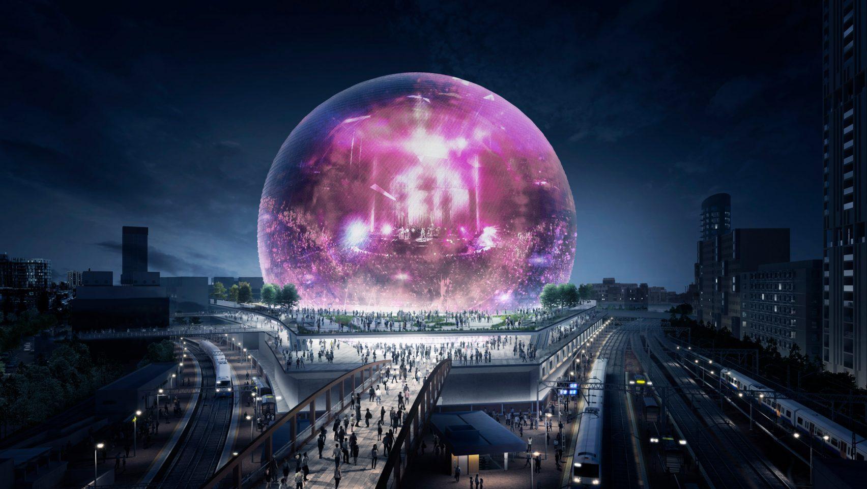 Premières images de la MSG Sphere London