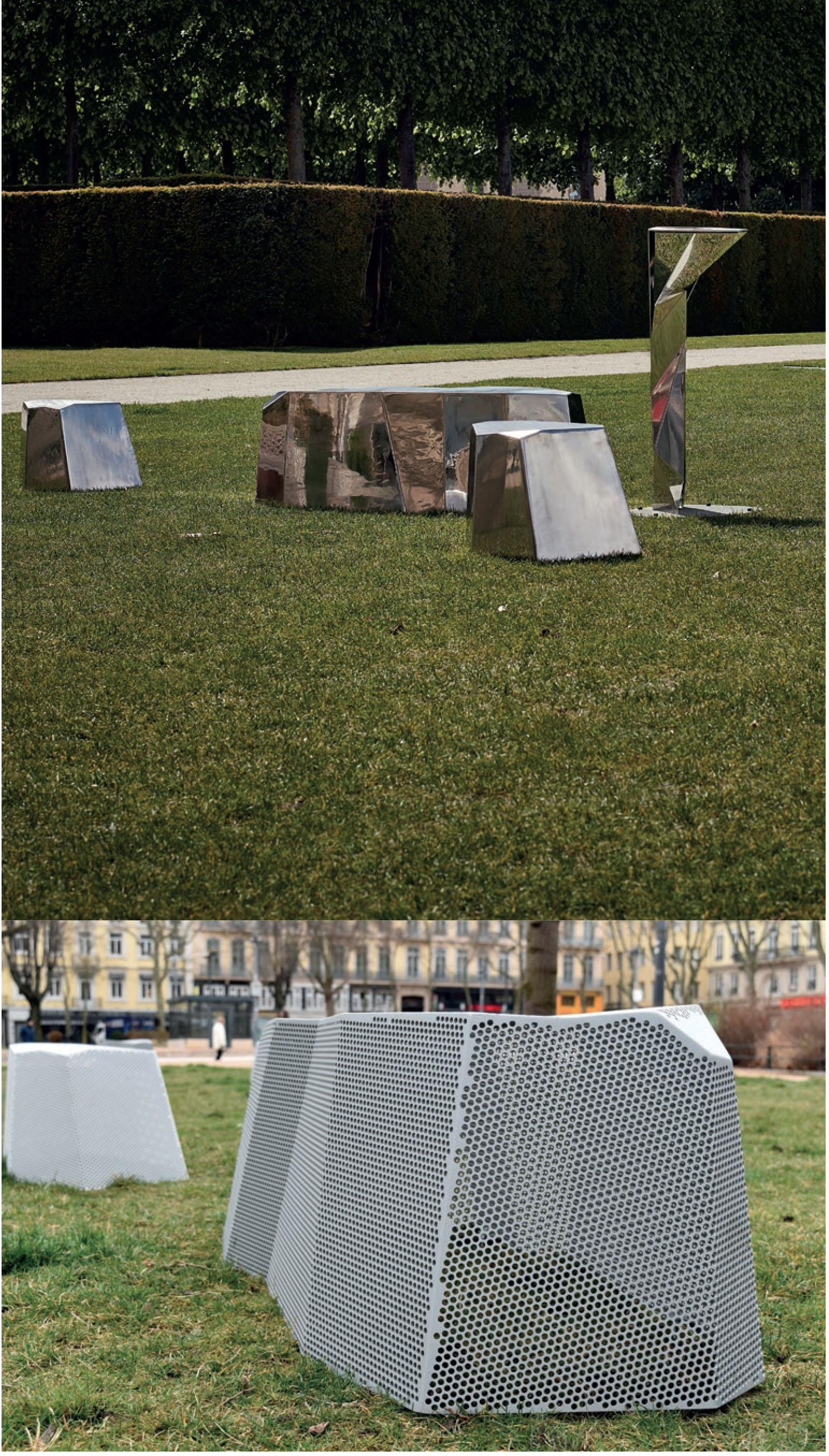 Mobilier urbain : les rocs de FRANCK MAGNÉ