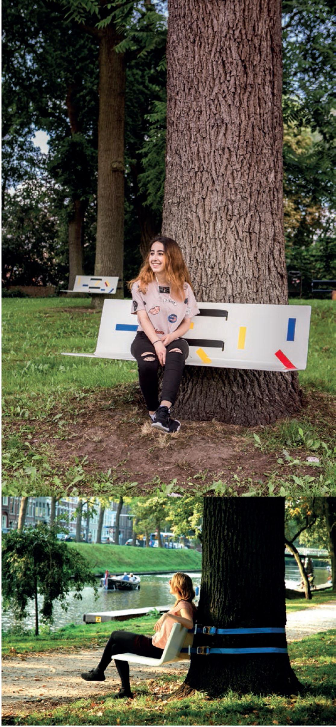Mobilier urbain : Tree Bench, un banc conçu par Rogier Martens