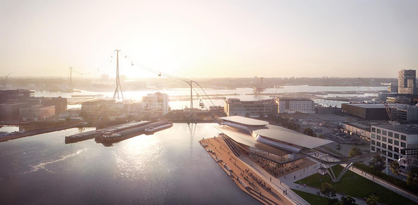UNStudio conçoit le téléphérique d'IJbaan: une connexion de transport public rapide, écologique et évolutive à Amsterdam