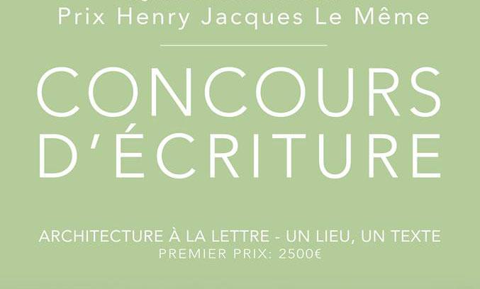 La Société Française des Architectes lance la deuxième édition de son concours d'écriture : le prix Henry Jacques Le Même