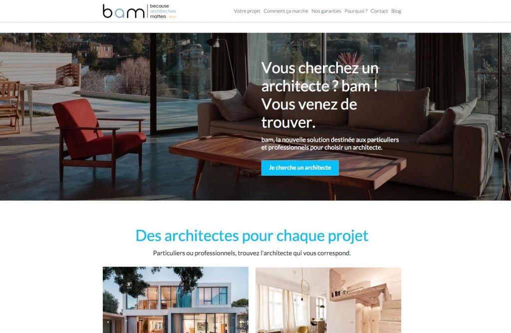 homepage du site BAM