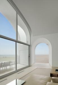 photographie de la Vault House vue sur la mer