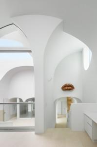 photographie de la Vault House en intérieur
