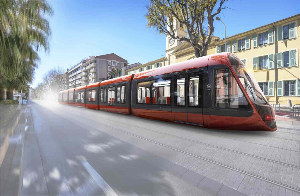 Tramway Ocre d'Ora Ito pour Nice