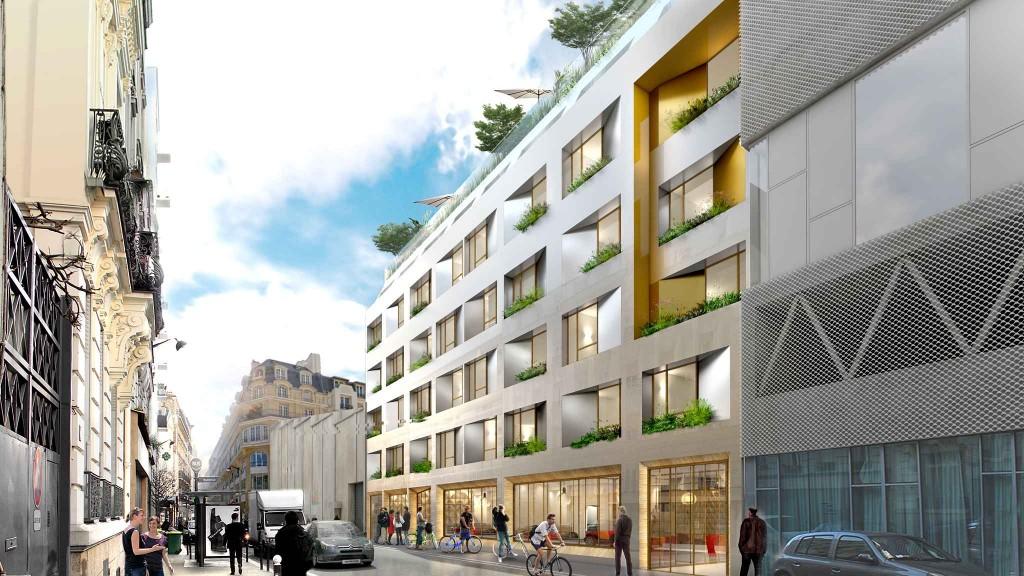 """""""L'Auberge Buzenval"""", projet lauréat du 61 rue Buzenval (Paris 20e). Studio d'architecture Ory et associés"""