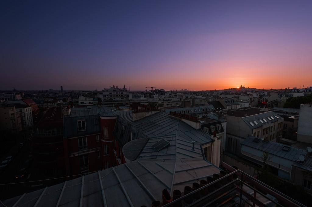 La vue depuis le rooftop. Les Piaules