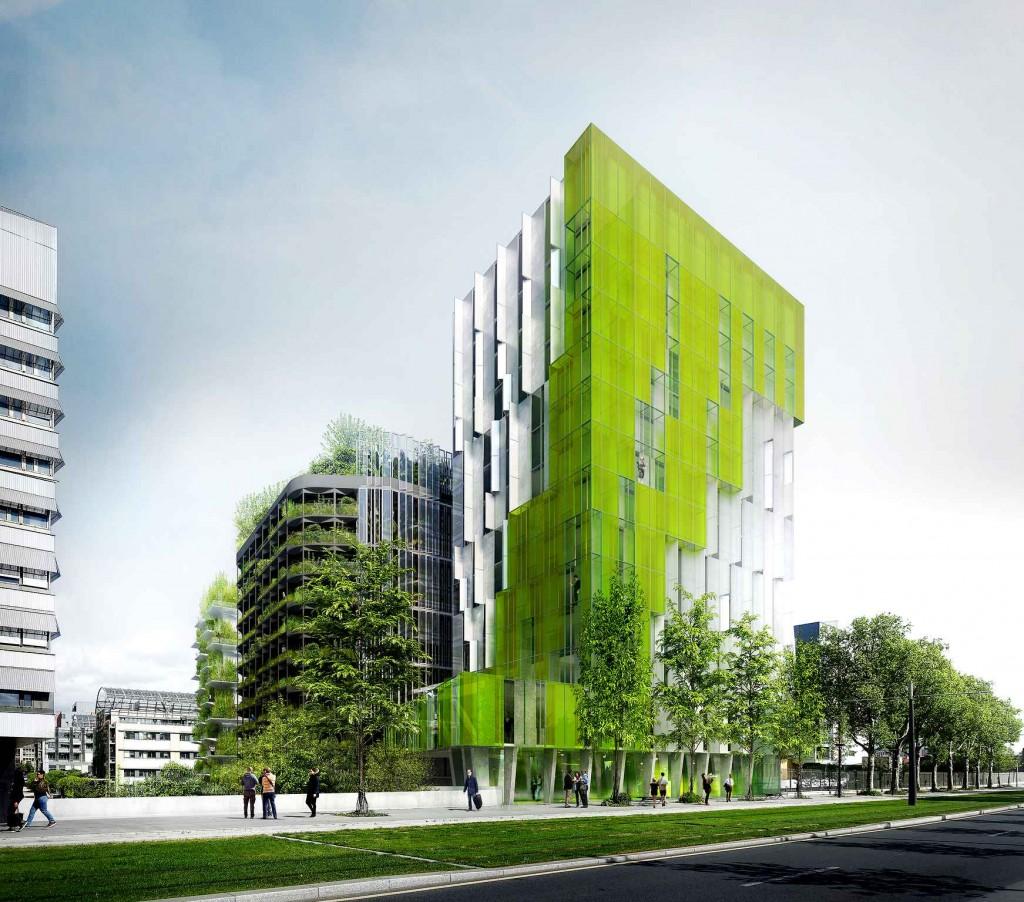 """""""In vivo"""", projet lauréat du site Paris Rive gauche (13e). XTU Architectes"""