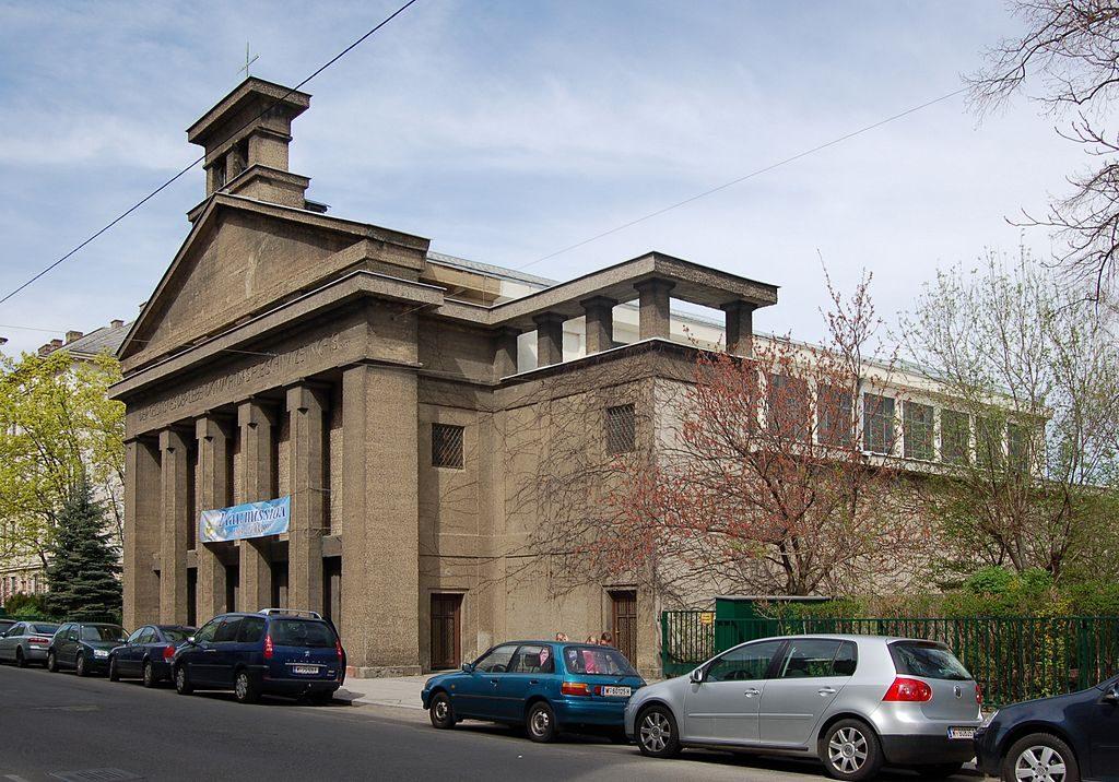 brutalisme Eglise Heilig Gast de Joze Plecnik Vienne