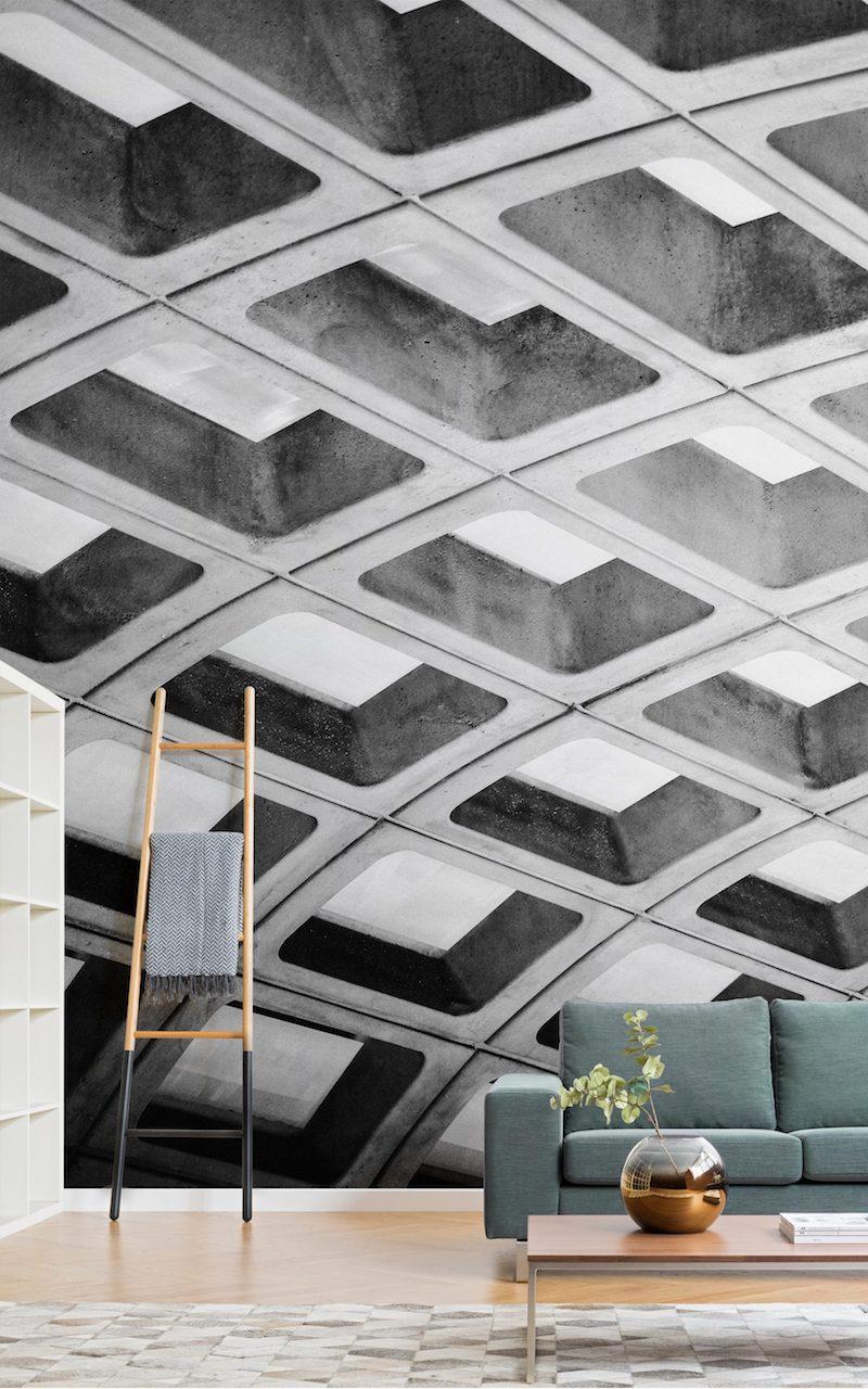 brutalisme Murals Wallpaper Concrete Effect