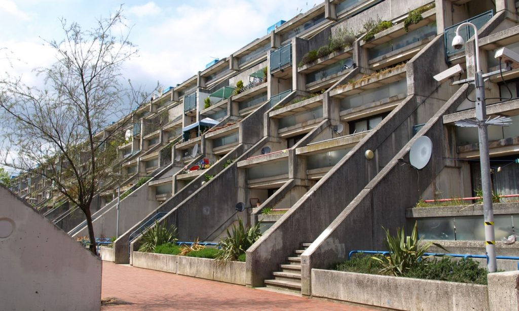 Lotissement Alexandra Road Camden londres brutalisme