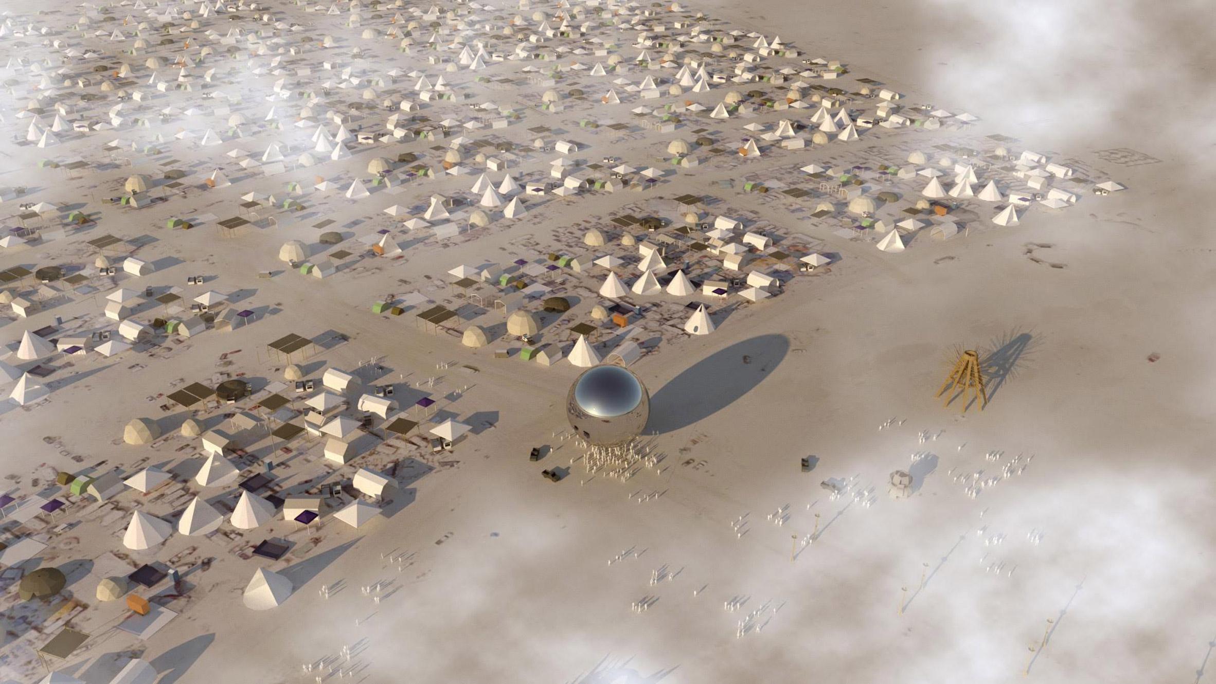 BIG : Bjarke Ingels appelle aux dons pour construire Burning Man ORB